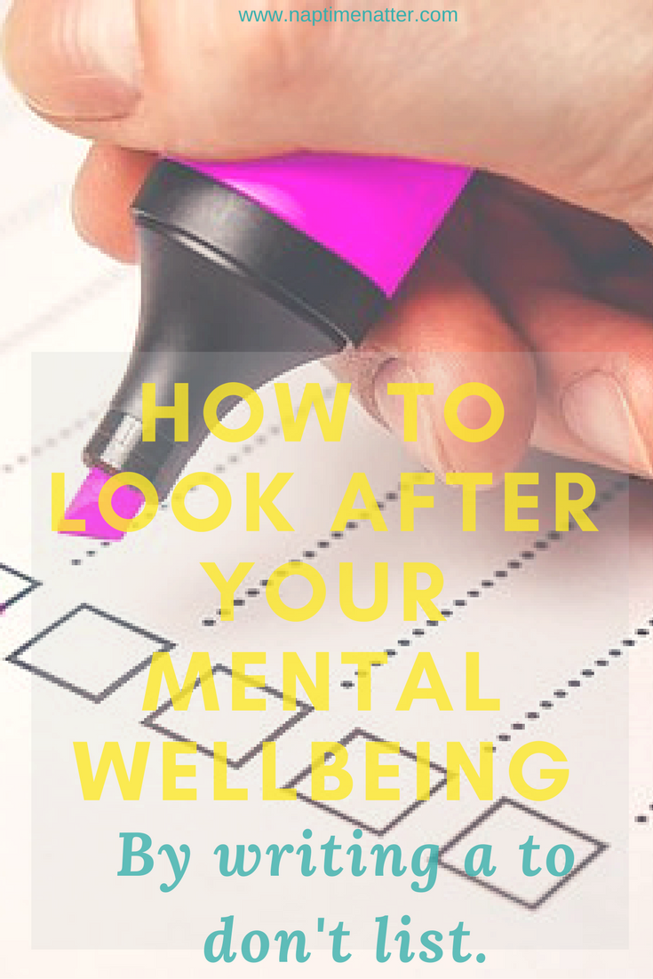 making-a-list-mental-wellbeing