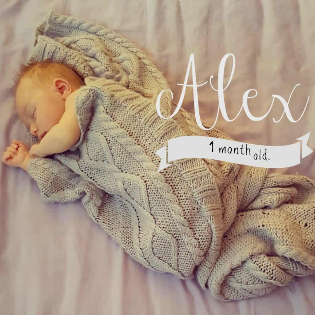 Baby update – Alex is 1 month