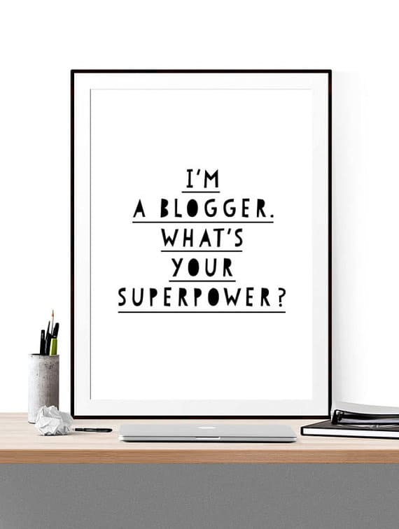 £7.50 Spell and Tell Etsy | Blogger print