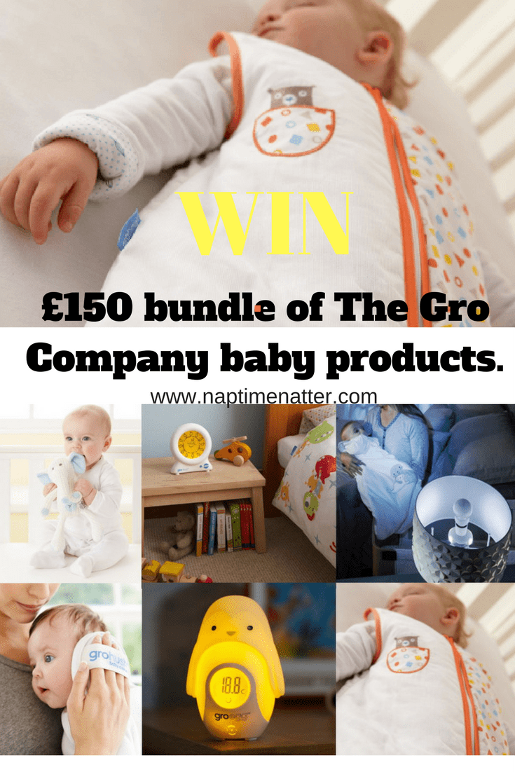 competition to win £150 worth of baby products from The Gro Company www.naptimenatter.com
