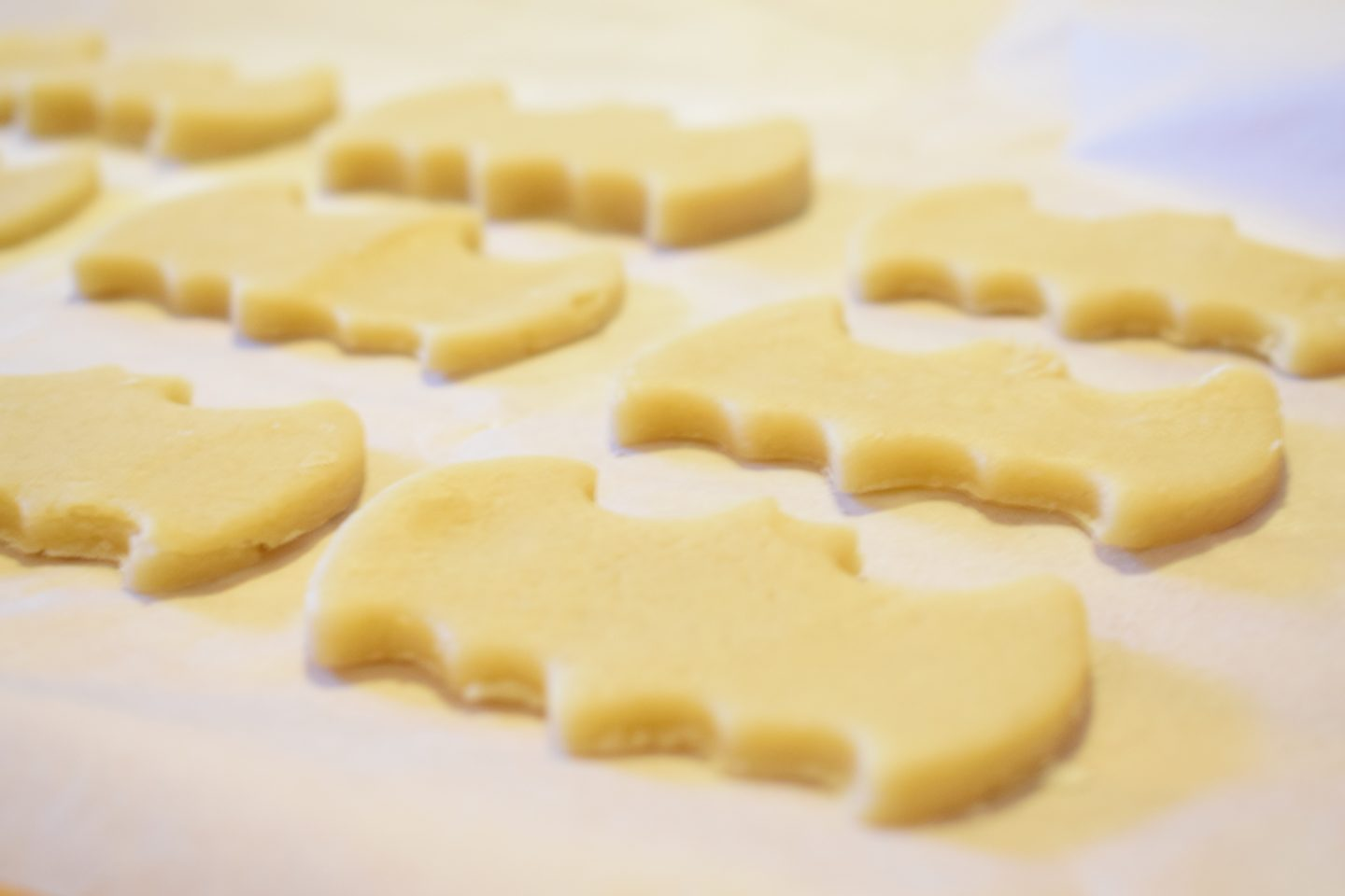Easy Batman biscuits to bake with kids