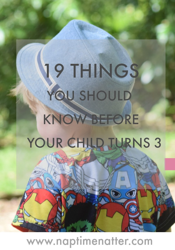 19 things you should know before your child turns 3
