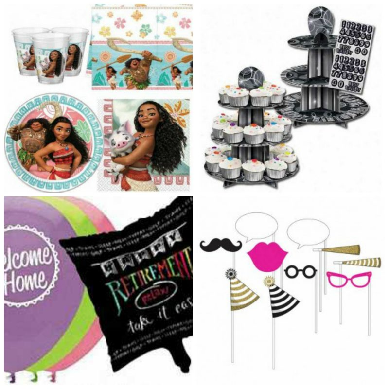 party bags and supplies