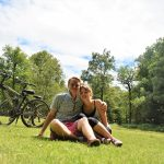 cycling and camping the new forest
