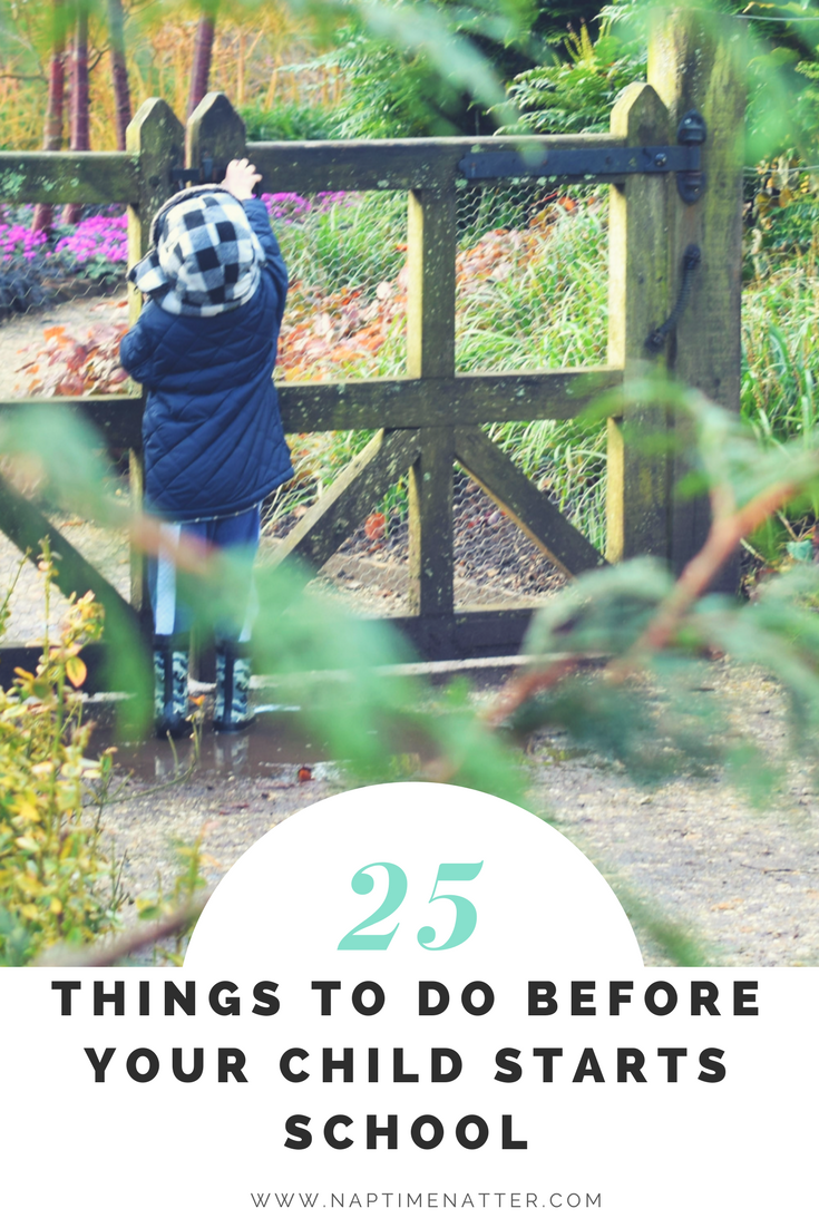 25 things to do before your child starts school