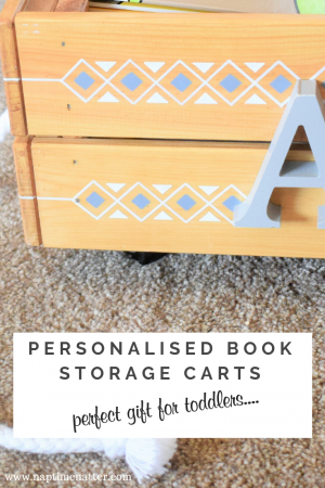 personalised book storage cart for toddlers