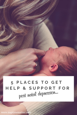 5 places to get help for post natal depression