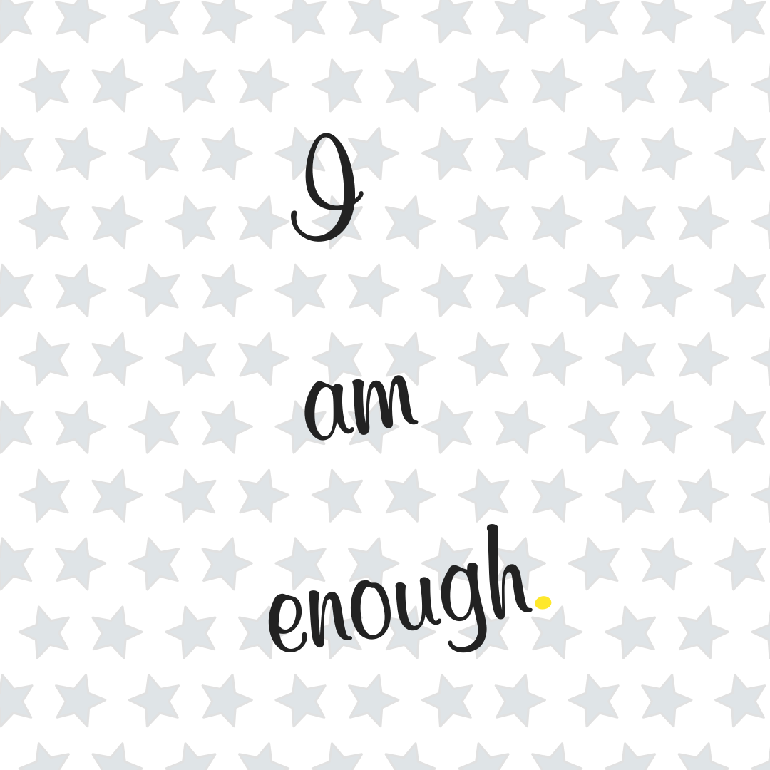 i am enough logo happier mum